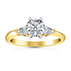 Three Stone Diamond Engagement Ring Eliza Pear Shape 14K Yellow Gold engagement rings imaginediamonds