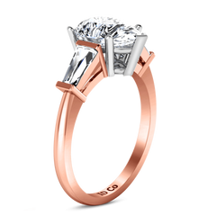Three Stone Diamond EngagementRing Tapered Baguette 14K Rose Gold engagement rings imaginediamonds