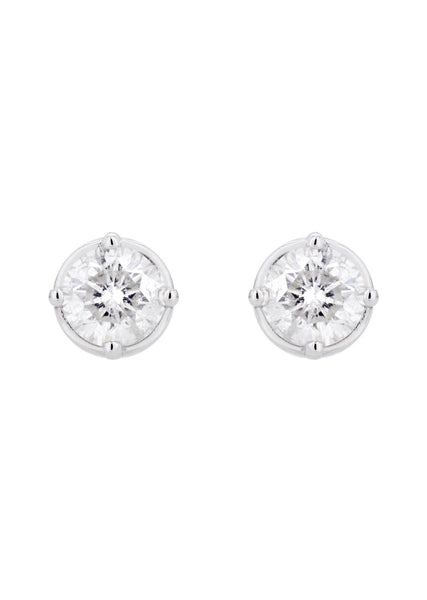 Round Diamond Stud Earrings | 1.1 Carats