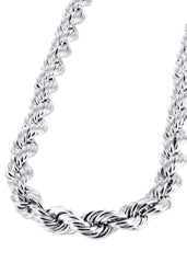 White Gold Chain - Mens Hollow Rope Chain 10K Gold MEN'S CHAINS MANUFACTURER 1