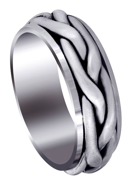 Hand Woven Mens Wedding Band | Satin Finish (Abraham)