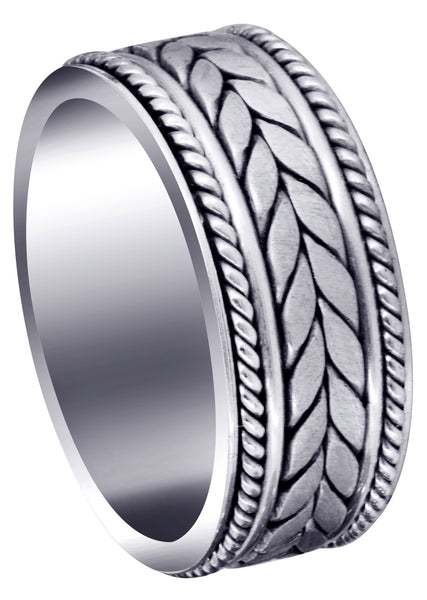 Hand Woven Mens Wedding Band | Satin Finish (Diego)