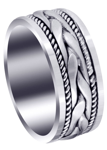 Hand Woven Mens Wedding Band | Satin Finish (Preston)