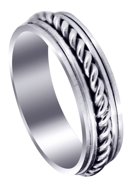 Hand Woven Unique Mens Wedding Band | High Polish Finish (King)