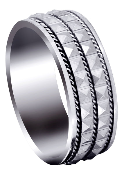 Contemporary Mens Wedding Band | GB / High Polish Finish (Zachary)