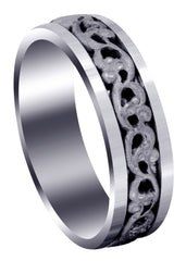 Celtic Mens Wedding Band | Sand Blast Finish (Everett)