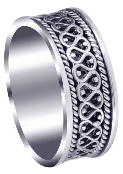 Celtic Unique Mens Wedding Band | High Polish Finish (Sean)