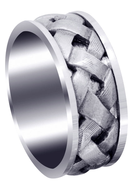 Contemporary Mens Wedding Band | Satin Finish (Wesley)