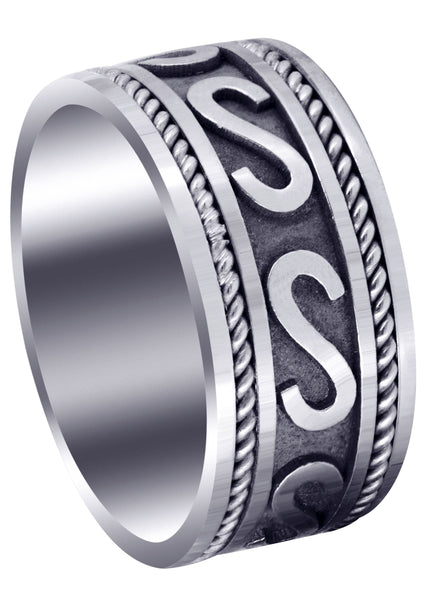 Celtic Mens Wedding Band | Sand Blast / High Polish Finish (Asher)