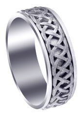 Celtic Mens Wedding Band | Sand Blast Finish (Cooper)