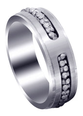 Contemporary Mens Wedding Band | Satin Finish (Paul)