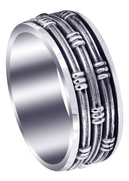 Contemporary Mens Wedding Band | High Polish Finish