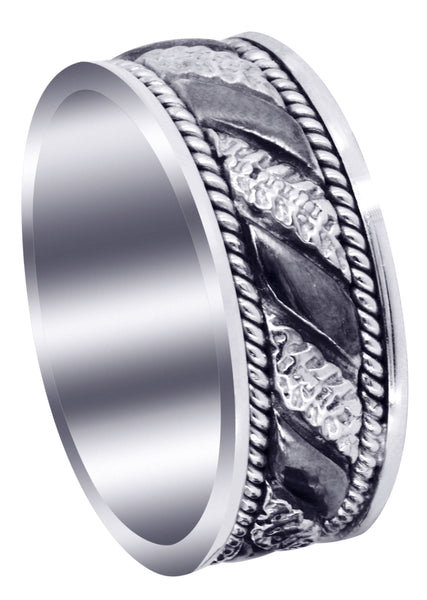 Hand Woven Mens Engagement Ring | High Polish Finish (Jayceon)
