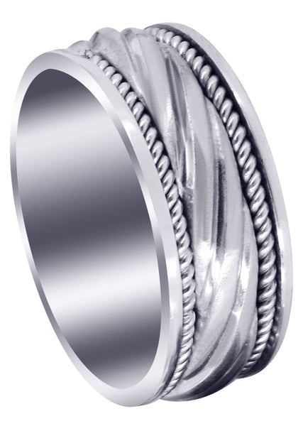 Hand Woven Unique Mens Wedding Band | Satin Finish (Matteo)