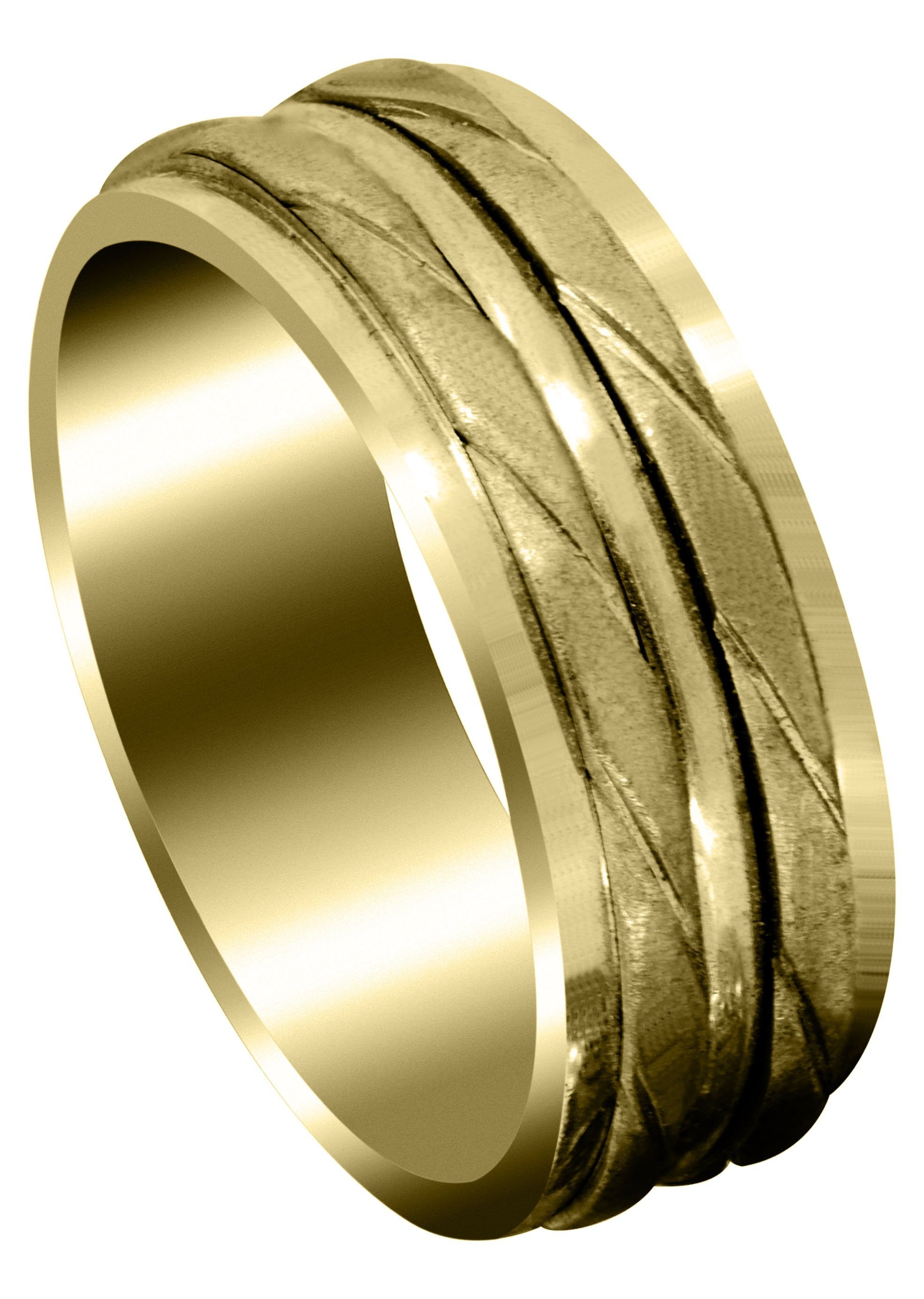 Yellow Gold Hand Woven Mens Wedding Band Cross Satin Finish Frostnyc