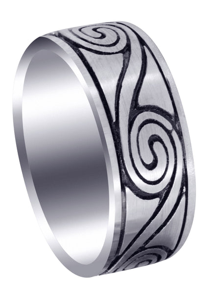 Celtic Unique Mens Wedding Band | High Polish Finish (Maverick)