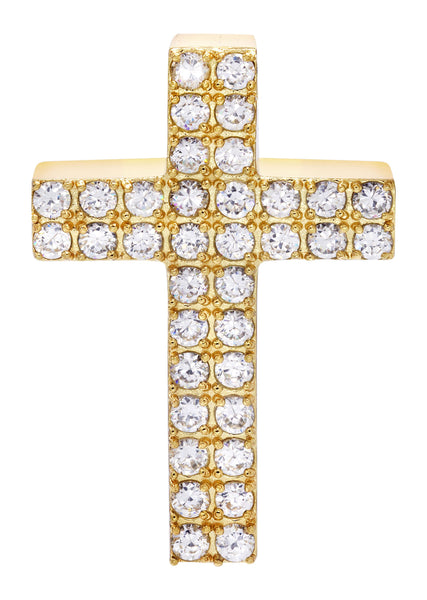 Mens Gold Plated Cross Pendant | 12 Grams