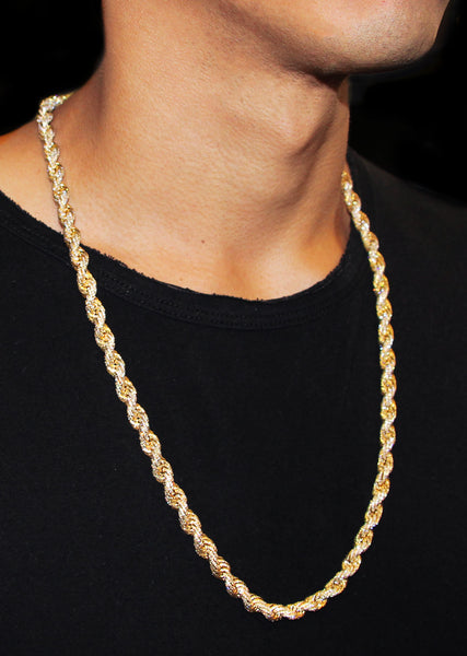 Iced Out Rope Chain