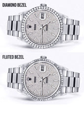 Diamond Mens Rolex Datejust Watch 16200  | 36MM | Full Diamond Dial | Oyster Band