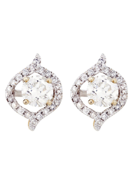 Round Diamond Stud Earrings | 1.64 Carats