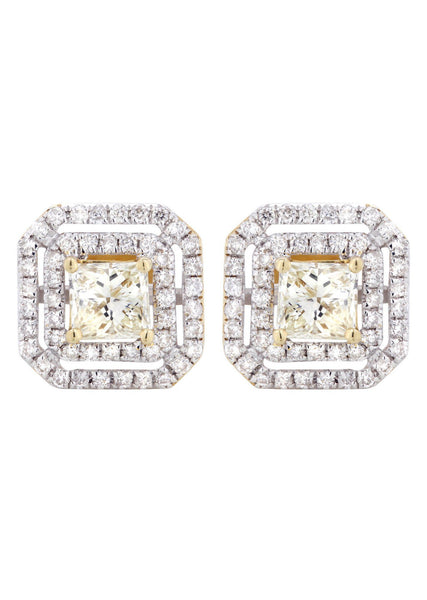 Princess Diamond Stud Earrings | 2.23 Carats