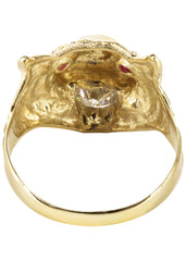 10K Yellow Gold Tiger style Mens Ring. | 6.1 Grams MEN'S RINGS FROST NYC