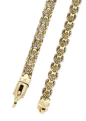Franco Chain With Yellow Diamonds | 11.15 Carats | 6 Mm Width | 24 Inch Length