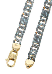 Fancy Link Chain | 9.41 Carats | 8 Mm Width | 24 Inch Length MEN'S CHAINS FROST NYC