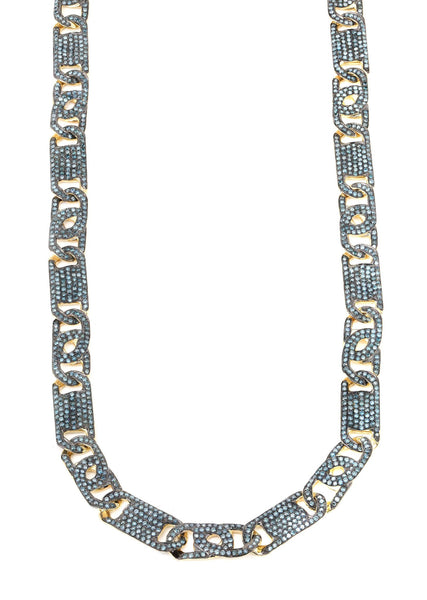Fancy Link Chain | 9.41 Carats | 8 Mm Width | 24 Inch Length