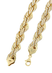 Iced Out Rope Chain | 72.92 Carats | 12 Mm Width | 29 Inch Length MEN'S CHAINS FROST NYC