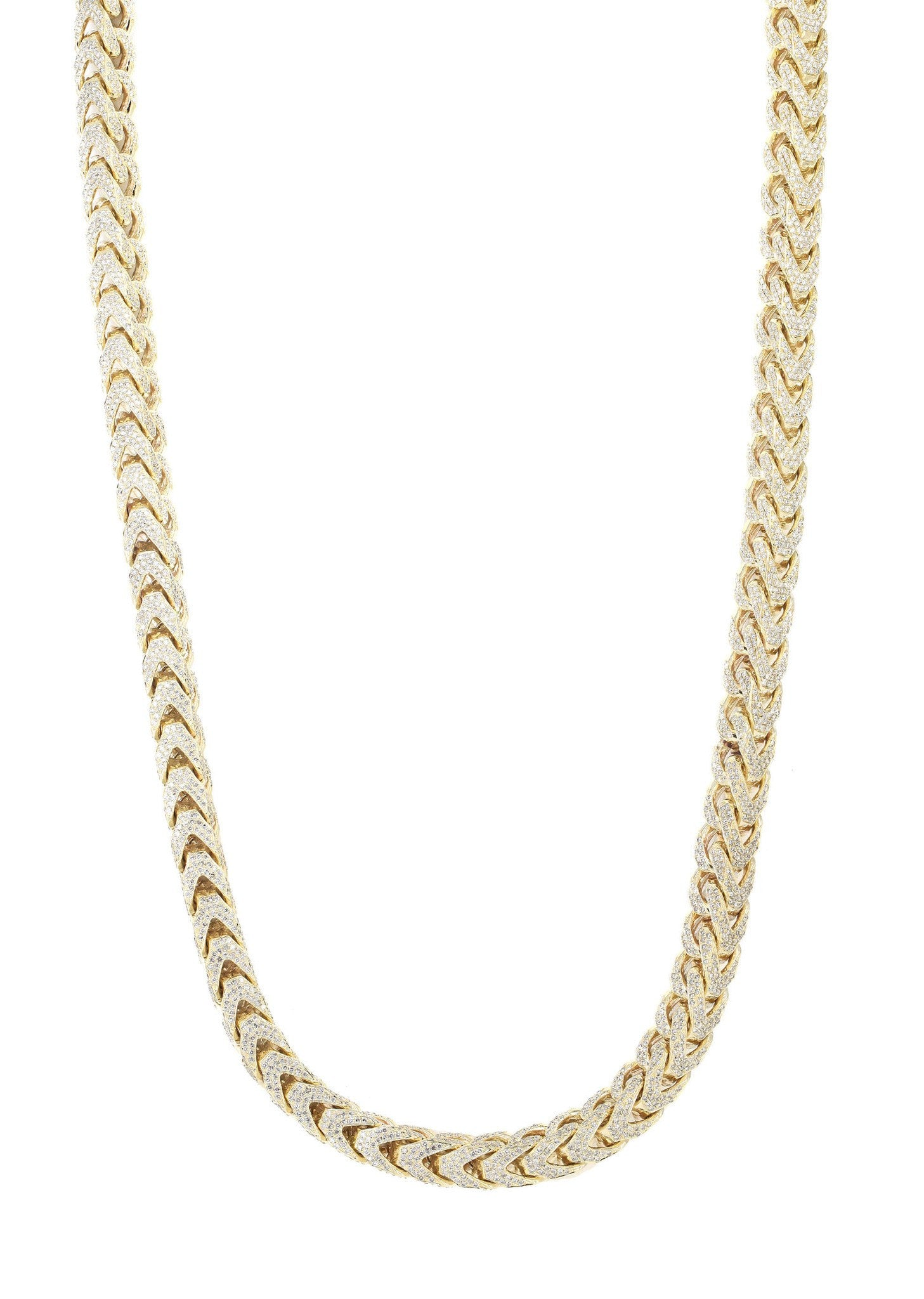 7fc2033e5ad Iced Out Franco Chain | 64.79 Carats | 10 Mm Width | 32 Inch Length ...