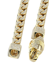 Iced Out Franco Chain | 64.79 Carats | 10 Mm Width | 32 Inch Length