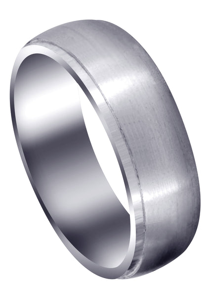 Carved Simple Mens Wedding Band | Satin Finish (Joseph)