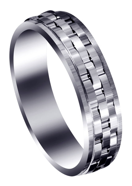 Contemporary Unique Mens Wedding Band | Wire Matt Finish (Daniel)