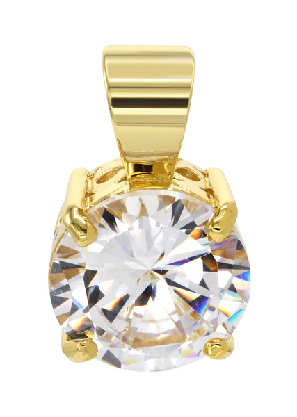 Mens Gold Plated Cubic Zirconia Pendant | 8.3 Grams