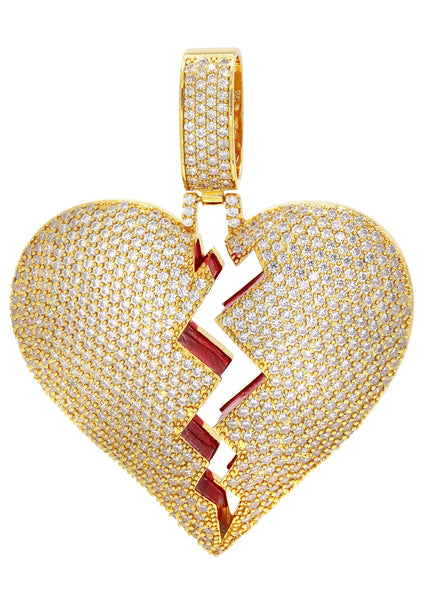 Gold Plated Heart Shape Pendant | 30.5 Grams