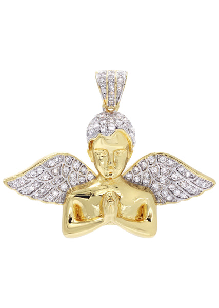 Mens Gold Plated Angel Pendant | 11.4 Grams