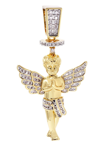 Mens Gold Plated Angel Pendant | 6.2 Grams
