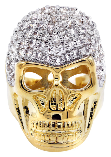 Gold Plated Skull Ring | 16 Grams
