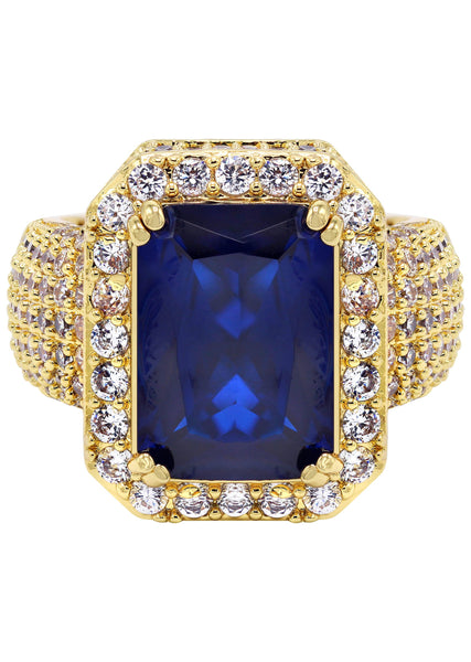 Gold Plated Sapphire Ring | 11 Grams