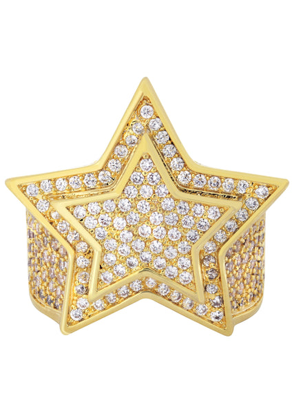 Gold Plated Star Ring | 11.4 Grams