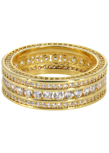 Gold Plated Eternity Ring | 4.8 Grams