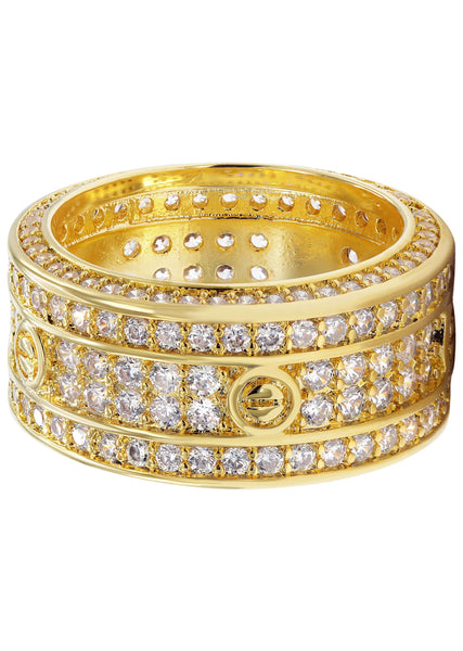Gold Plated Eternity Ring | 8 Grams