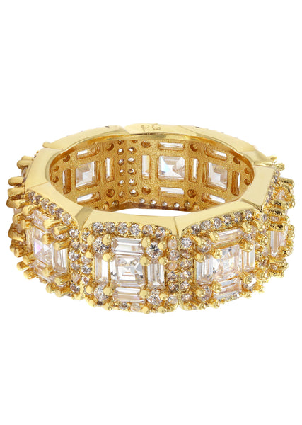 Gold Plated Eternity Ring | 6.8 Grams