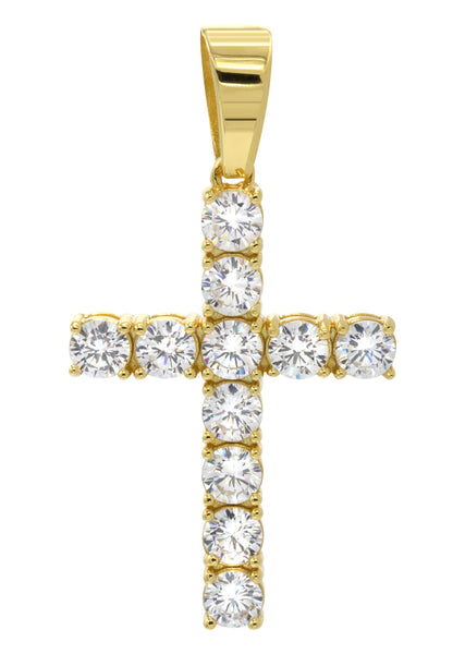 Mens Gold Plated Cross Pendant | 5 Grams