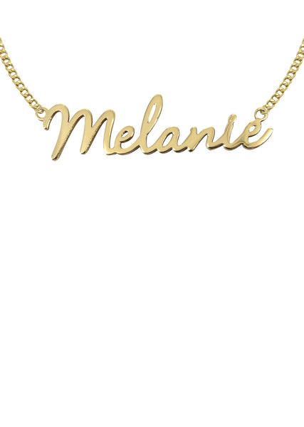 14K Ladies Script Name Plate Necklace | Appx. 6.1 Grams