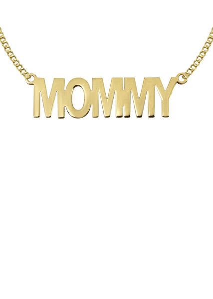 14K Ladies mommy Name Plate Necklace | Appx. 6.1 Grams