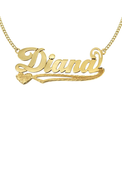 14K Ladies Plain Name Plate Necklace | Appx. 7.2 Grams