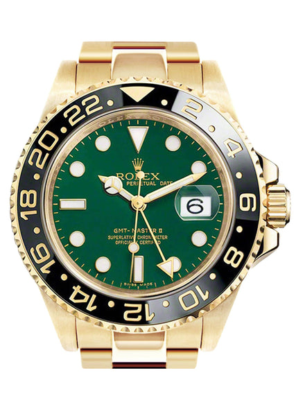 Rolex Gmt-Master 2 | 18K Yellow Gold | 40 Mm