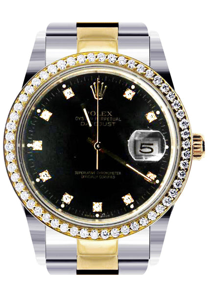 Diamond Rolex Datejust | 18K Yellow Gold | 36 Mm